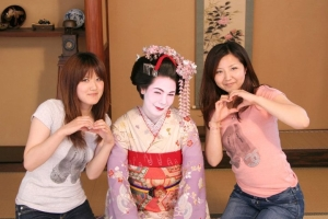 Maiko and friends